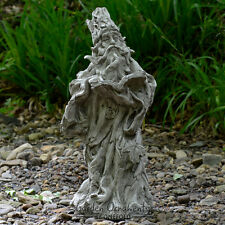 WIZARD GREEN MAN GNOME Cast Stone Garden Ornament Statue Patio Decor ⧫onefold-uk