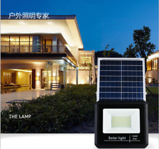 25/40/60/100W Solar Light LED Flood Lamp Garden Spotlights With Remote Timed