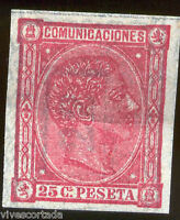 España Nº 166 FALSO EPOCA 25 Centimos @@ Sin Dentar @@