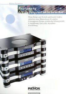 Revox HiFi Prospekt 2002 D Exception Audio-System brochure catalogue Katalog