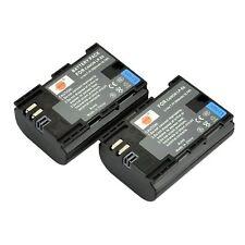 DSTE 2x LP-E6 LP-E6N Rechargerable Li-ion Battery for EOS - 2600mAh and More