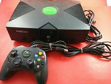 Black Xbox System [w/1 Official Controller & All Cables] Tested & Working