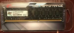 G.Skill DDR3 PC3-10600 1333MHz 4GB RAM F3-10600CL9S-4GBNT