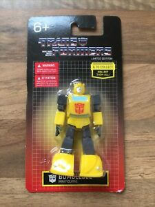 """💫 TRANSFORMERS MINI FIGURE BUMBLEBEE CAKE TOPPER HASBRO LIMITED EDITION 3"""" NEW"""