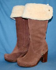 UGG AUSTRALIA 3211 Lillian Sheepskin Knee Boot Wo's 7 Eu 38 Chestnut Wood Base