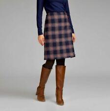 Moon Laura Ashley British Wool Tab Detail Check Skirt Size 8 NEW