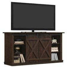 "Rustic TV Stand Console Up To 60"" Barn Door Wood Farmhouse Entertainment Center"