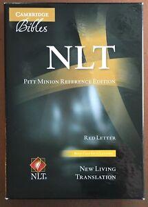 NLT Cambridge Pitt Minion BLUE Calfsplit Leather BIBLE BRAND NEW