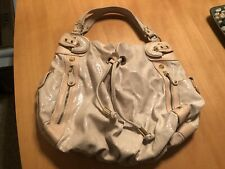 HYPE Pale Pink Python Leather Large Handbag/Hobo EUC