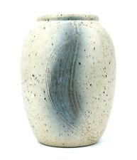 Swedish Studio Pottery Vase 14 cm Textured Unknown Impressed Mark