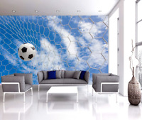 3D Blue Sky White Clouds Sports Football TV Background Wallpaper Wall Murals