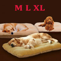 XL Orthopedic Dog Bed Pillow Plush Sherpa Large Pet Lounger for Crate Foam Soft