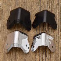 8 pc Mini Corner Protector for Loudspeaker Amplifier Cabinet Random Black Silver