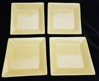 NEW Pier 1 Essential Colours Square Dinner Plates Bright Yellow Set of 4 NEW
