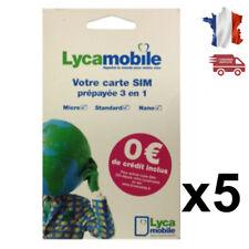 Carte SIM Lycamobile (réseau Bouygues Télécom)