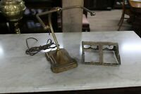 Antique Ornate Piano Lamp With Slag Glass Shade Need Restoration Very Nice Model