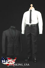 1/6 Men Business Suit Shoes Set For Hot Toys Agent Phicen Male Figure USA