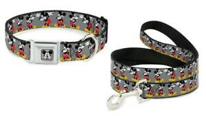Buckle Down Seatbelt Dog Collar or Leash - MICKEY MOUSE Glasses - S M L Made USA
