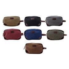 Men Casual Canvas Travel Wrist Bag Wallet Handbag Tote Purses Makeup Storage Box