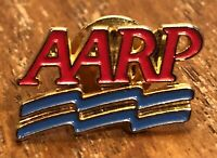 Vintage AARP American Association Of Retired Persons Logo Lapel Hat Pin Pinback