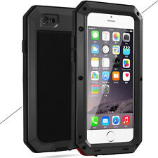 Heavy Duty Shockproof Bumper Aluminum Metal Cover Case Waterproof iPhone X 8 6 7 Black for iPhone 5s