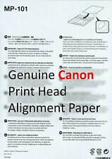 NEW Genuine Canon MP-101 Printhead Print Head Alignment Inkjet Matte Paper Sheet