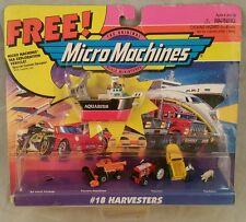 #18 HARVESTERS COLLECTION GALOOB MICRO MACHINES 65020 + SEA EXPLORATION SHIP NEW