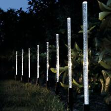 8X Solar Power Acrylic Bubble White LED Light Garden Lawn Landscape Lamp Decor