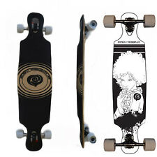 Easy People Drop Through DT-6 Deck Natural Longboard Complete wheels trucks Afro