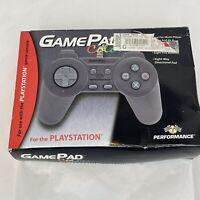 Vintage 1998 Performance GamePad Color Playstation Gun Metal Grey Controller