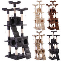 "67"" Cat Tree Condo Furniture Scratching Post Paw Pet Tower Kitty Play House"