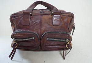 Chloe vintage maroon duffle hand bag