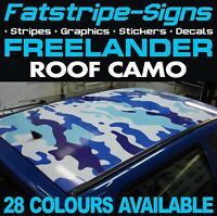LAND ROVER FREELANDER ROOF CAMO GRAPHICS STICKERS STRIPES DECALS CAMOUFLAGE 4x4