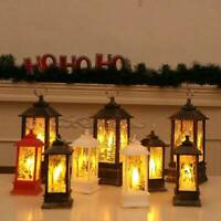 Christmas Santa Claus Castle Snowman Lamp Light Fairy Hanging Lantern OrnamentUK
