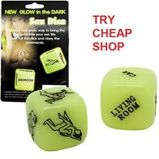 Glow in the Dark Sex Dice Colour Positions Adult Couples Game Toy Naughty Bed