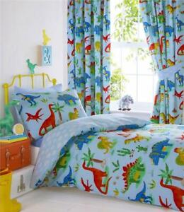 Dinosaur duvet sets boys blue bedding childrens quilt covers curtains
