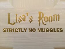 Harry Potter Personalised Bedroom Door Name Vinyl Sticker Decal,