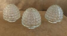 Vintage Pine cone glass globe ceiling light fixture chandelier lot 3 set acorn