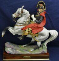 Royal Worcester NAPOLEON BONAPARTE on horse with box plinth & cert circa 1965