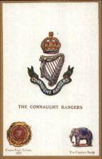 UK British Military Badge Crest Heraldic Postcard CONNAUGHT RANGERS