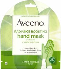 Aveeno Radiance Mask, Moisturizing Single-Use Hand Gloves, Paraben-Free, 1 ea