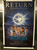 STAR WARS RETURN OF THE JEDI ORIG VINTAGE 1985 RE-RELEASE 1-SHEET 27x41