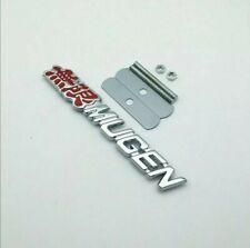 Honda Civic FN2 TypeR Mugen Grille Badge Emblem Red and silver font colour