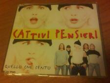 CDs PROMO  CATTIVI PENSIERI QUELLO CHE SENTO TRE TRACCE EMI ITALY PS 1997