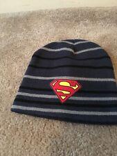 Superman Big Kids Adult Beanie Winter Sz 14 And Older MultiColor Hat