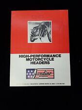 Vintage 1970s Jardine Headers catalog Honda CB750 Harley drag Triumph Norton