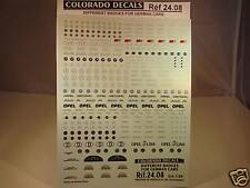 DECALS 1/24 LOGOS VOITURES ALLEMANDES - COLORADO  2408