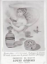 Publicité ancienne produits de Beauté Louis Gervais1947 issue de magazine