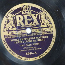 78rpm RADIO CHOIR + DAWSONS CANARIES while shepherds watched / the first noel