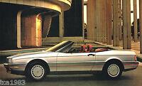 1987 Cadillac Brochure: ALLANTE, DeVILLE,FLEETWOOD,75,ELDORADO,SEVILLE,Limousine